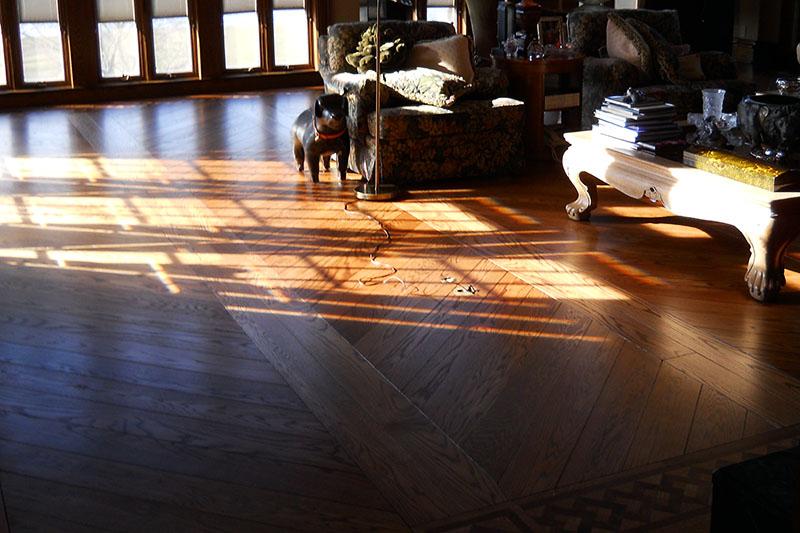 Patterned wood floor