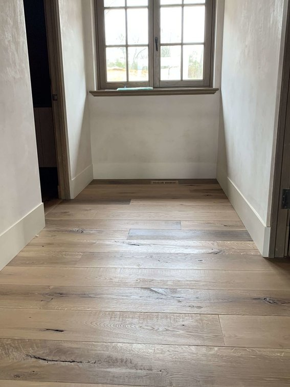 White Oak with Natural Oil Finish in Hallway