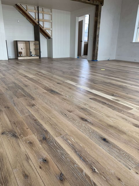 White Oak Finished with European Oil