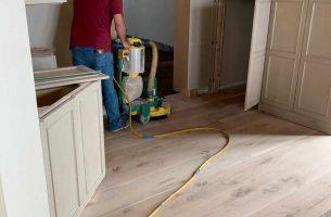 Sanding white oak floors