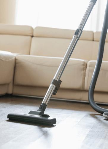 Vacuum on wood floor