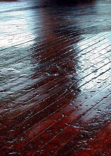 Dented hardwood floor