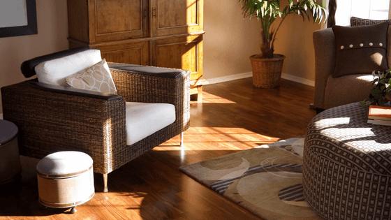 Fading hardwood floor