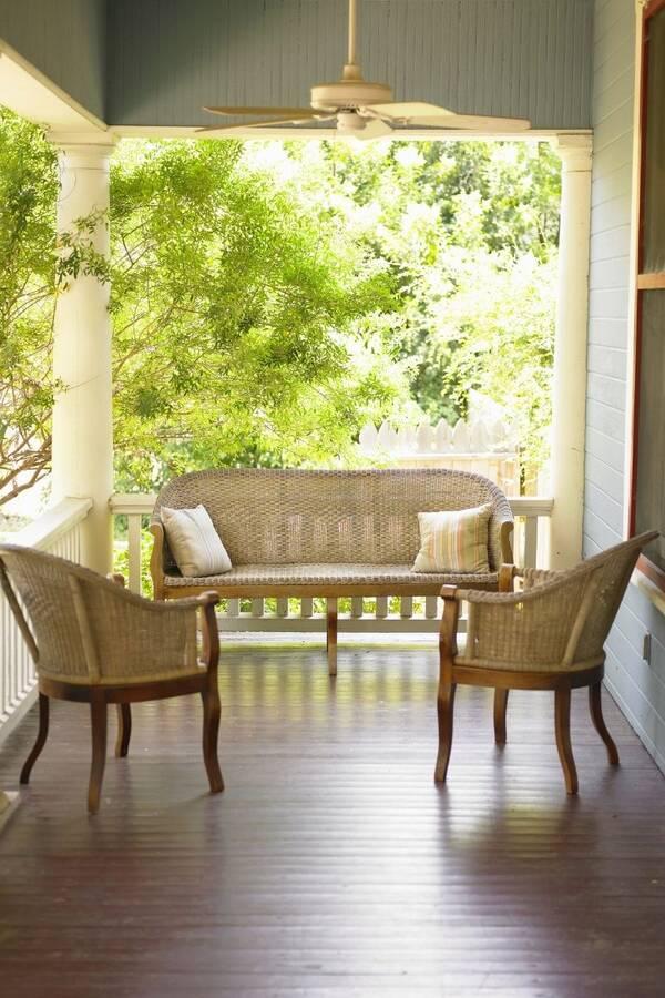 Hardwood Flooring on Porch