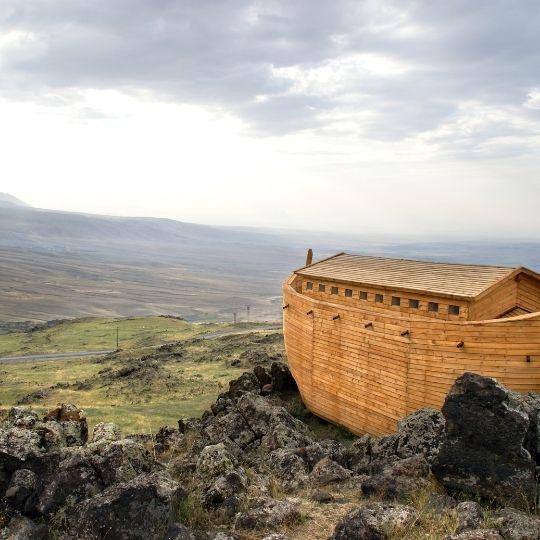 Noah's Ark made of wood