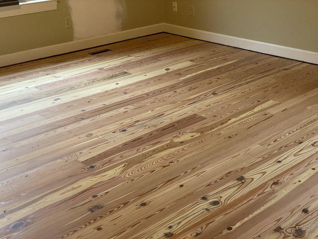 Longleaf Heart Pine in Room