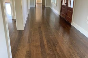 White Oak Flooring with Poly Finish Hallway