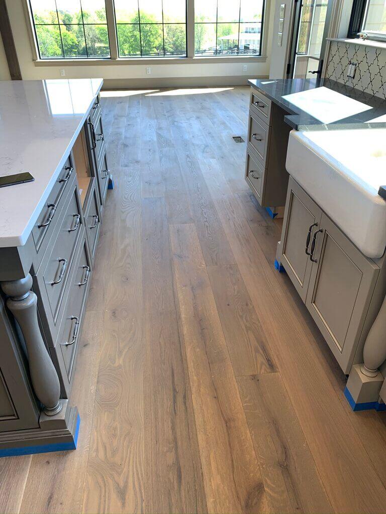 Hardwood Floor in Kitchen