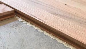 Hardwood Glued to Concrete Slab